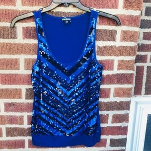 Express Sequins Tank Top Blouse